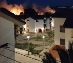 Incendio de pasto seco en la zona del cigarral