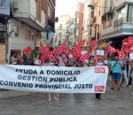 Las trabajadoras de Ayuda a Domicilio reclaman en la calle la gestión pública del servicio y sus derechos laborales