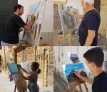 El concurso de pintura rápida llena de artistas y visitantes los rincones más pintorescos de Montilla
