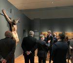 Una delegación de Montilla en el Museo del Prado con el Cristo de Zacatecas en la inauguración de la muestra 'Tornaviaje'